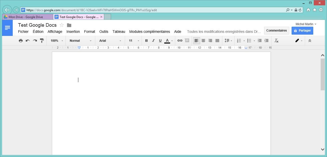 Google Docs - Créer un document texte