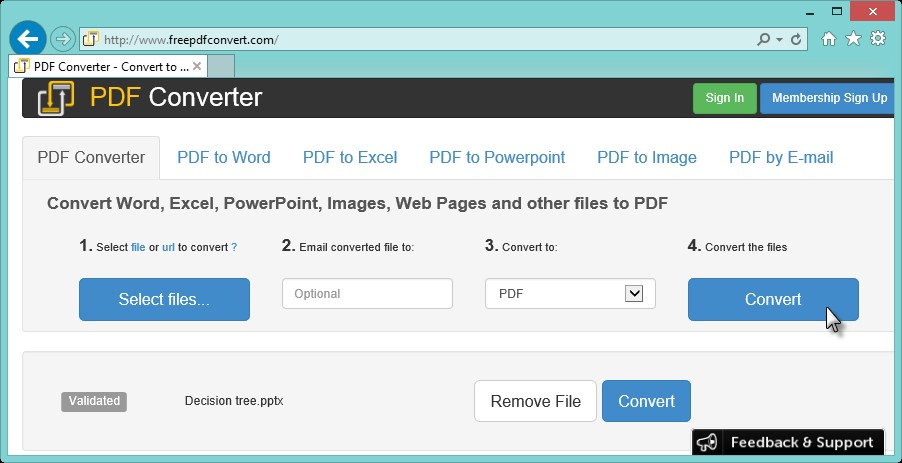 how to convert pdf to un expired