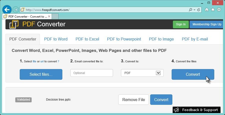 PDF Converter - Utilisation
