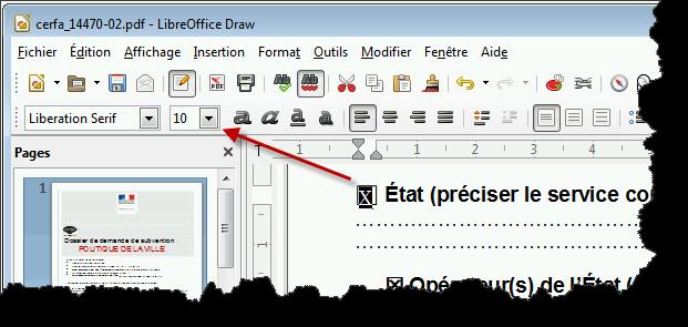 Draw, formulaire PDF - Case à cocher