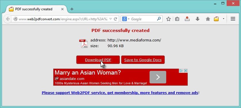 web2pdfconverter - télécharger un fichier pdf