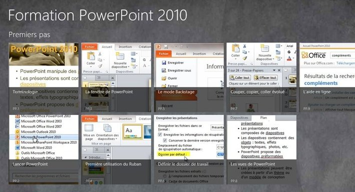 Formation PowerPoint 2010