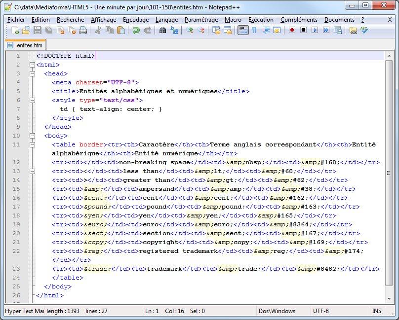 entités HTML