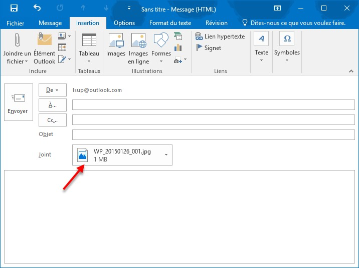 how to add photo on outlook 2016