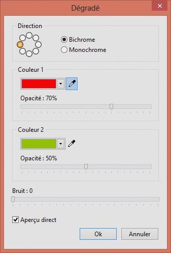 Photofiltre - Dégradé de couleurs sur un texte 3