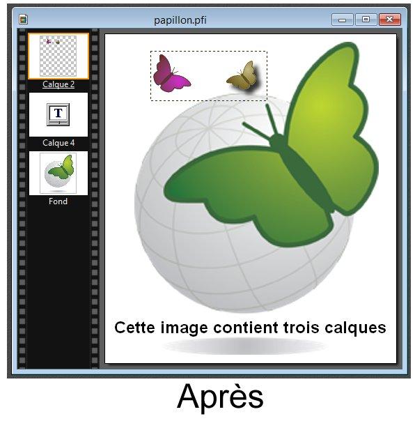Photofiltre - Modifier des calques 5