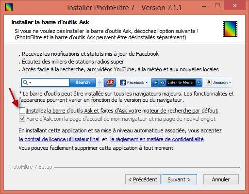 Télécharger et installer Photofiltre 7