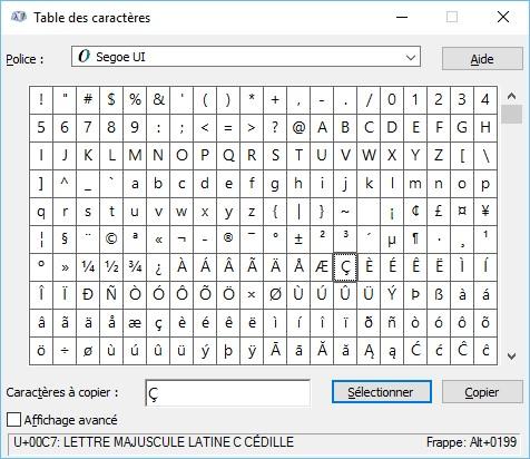Windows 10 acc dez aux caract res sp ciaux dans tous vos documents m diaforma - Table des caracteres windows ...