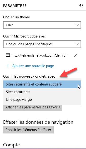 Windows 10 choisir ce qui s affiche dans un nouvel for Ouvrir un lien dans une nouvelle fenetre