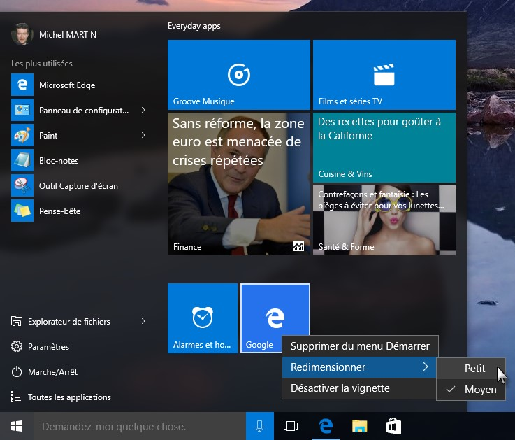 Windows 10 epingler un site sur le menu d marrer for Windows 10 site
