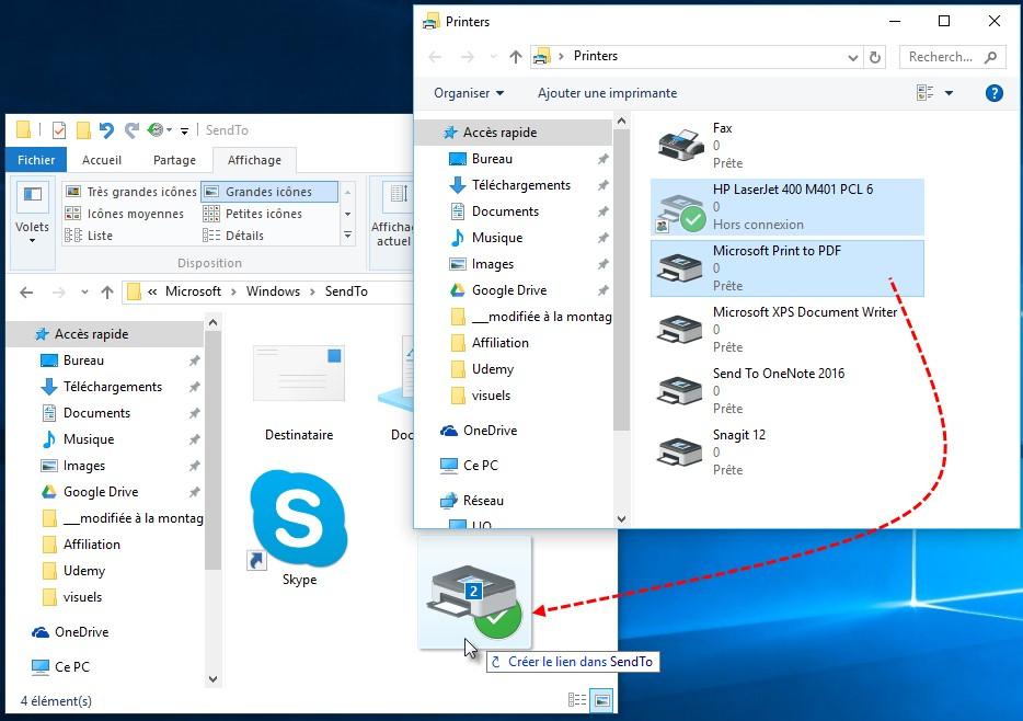Windows 10 imprimer des fichiers depuis l 39 explorateur de for Raccourci clavier agrandir fenetre windows 7