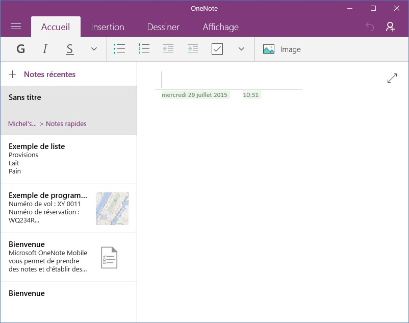 how to start onenote in windows 10