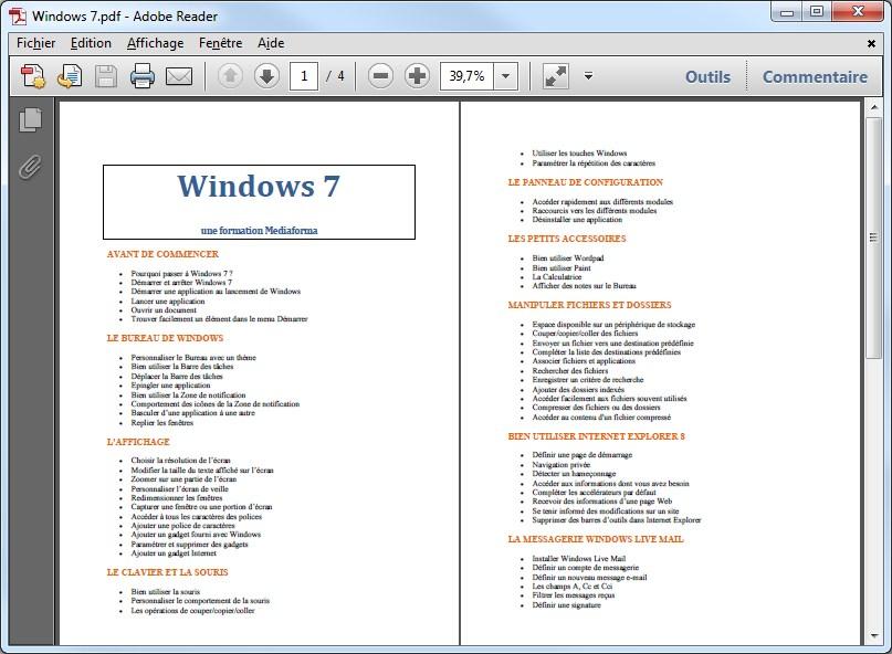 Comment afficher deux pages en meme temps for Ouvrir fenetre dos windows 7