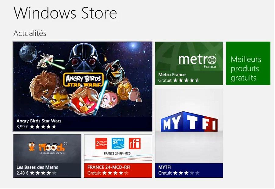 installation de l'application Windows 8