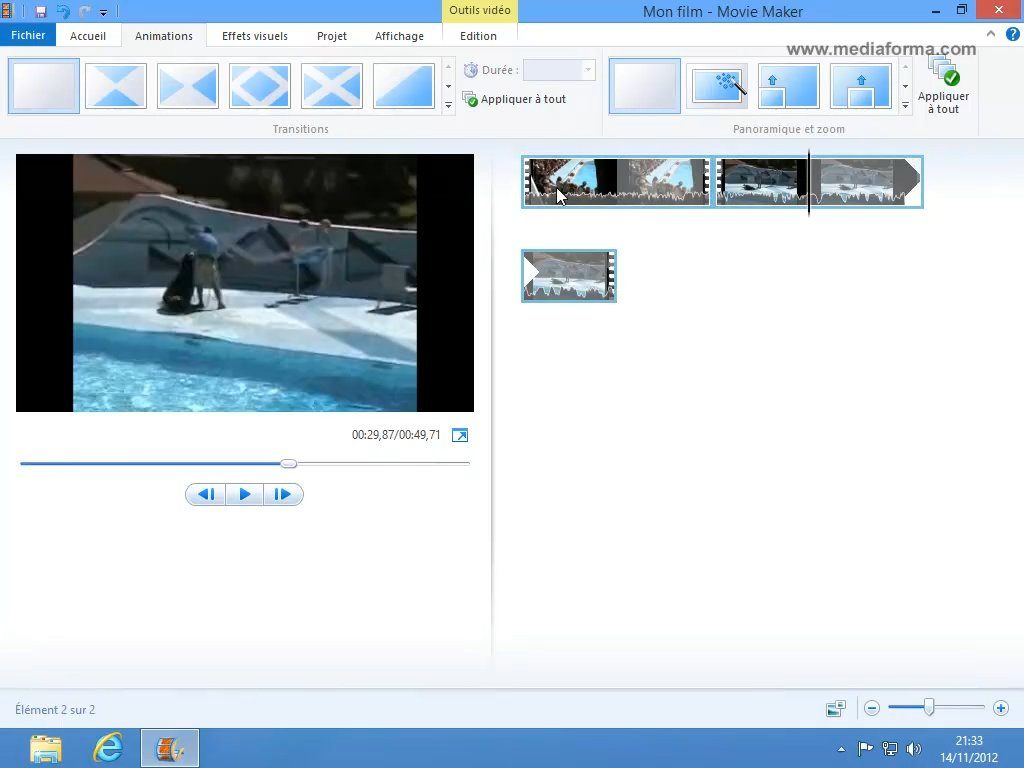 windows media a clip de video: