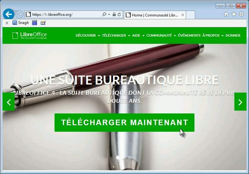 Télécharger LibreOffice