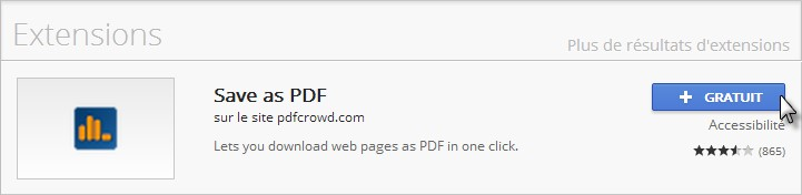 saveaspdf - Extension Google Chrome