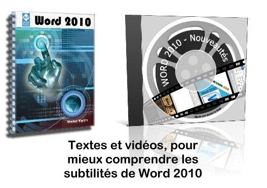 Formation ebook et vidéos Word 2010 pour débutants