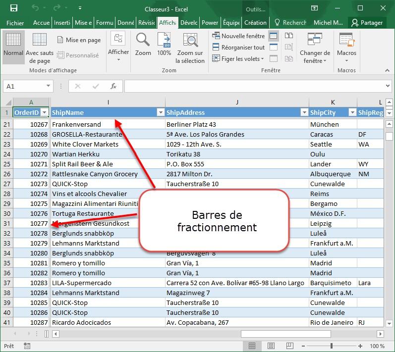 magasin discount code promo doux et léger Excel 2016 - Figer les volets - Médiaforma