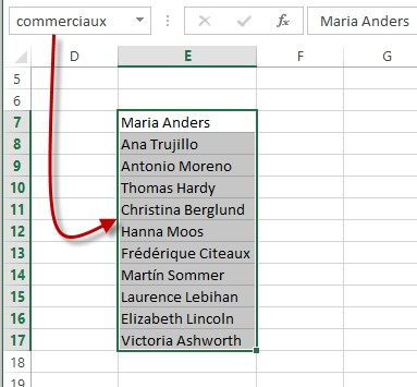 Excel 2016 Nommer Une Plage De Cellules Mediaforma