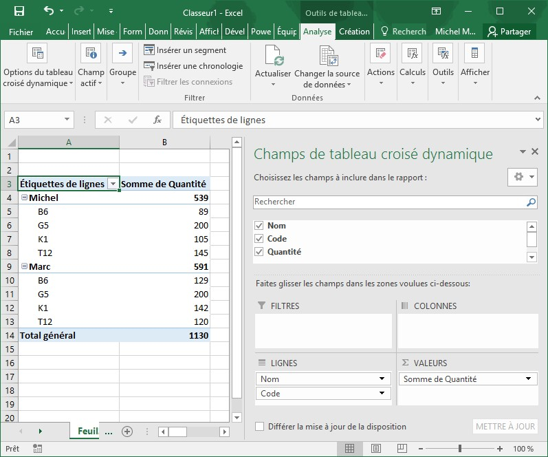 Excel 2016 Tableau Croise Dynamique Mediaforma
