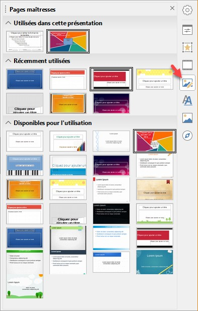 page maitresse libreoffice impress