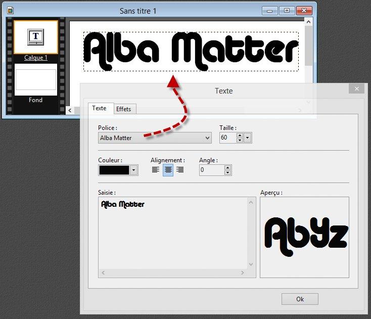 Photofiltre - Ajouter des polices à Windows 2