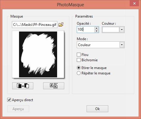Photofiltre - Appliquer un masque à une image 2