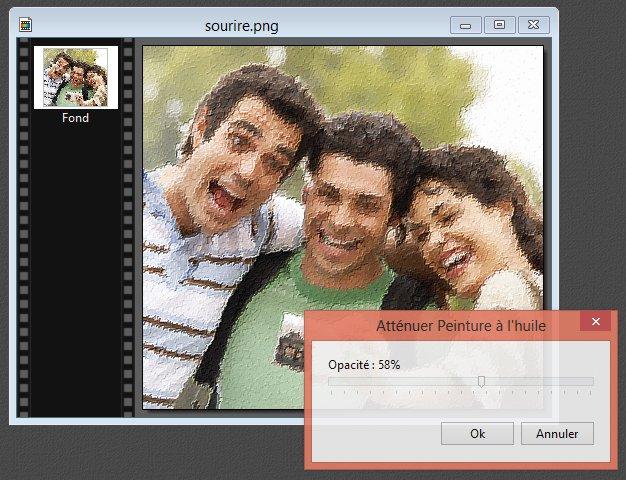 Photofiltre - Atténuer l'effet d'un filtre