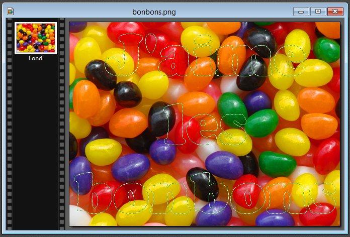 Photofiltre - Image piégée dans un texte 2