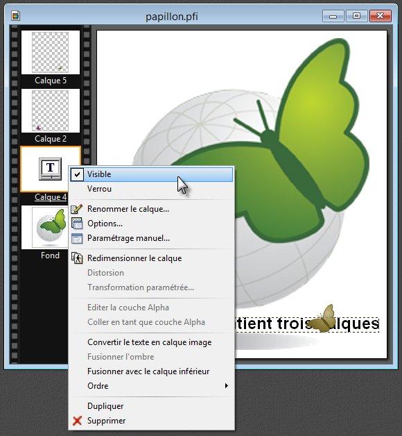 Photofiltre - Modifier des calques 2