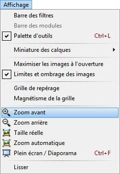 Photofiltre - Modifier la taille d'une image dans la zone de travail