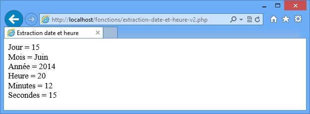 date et heure php