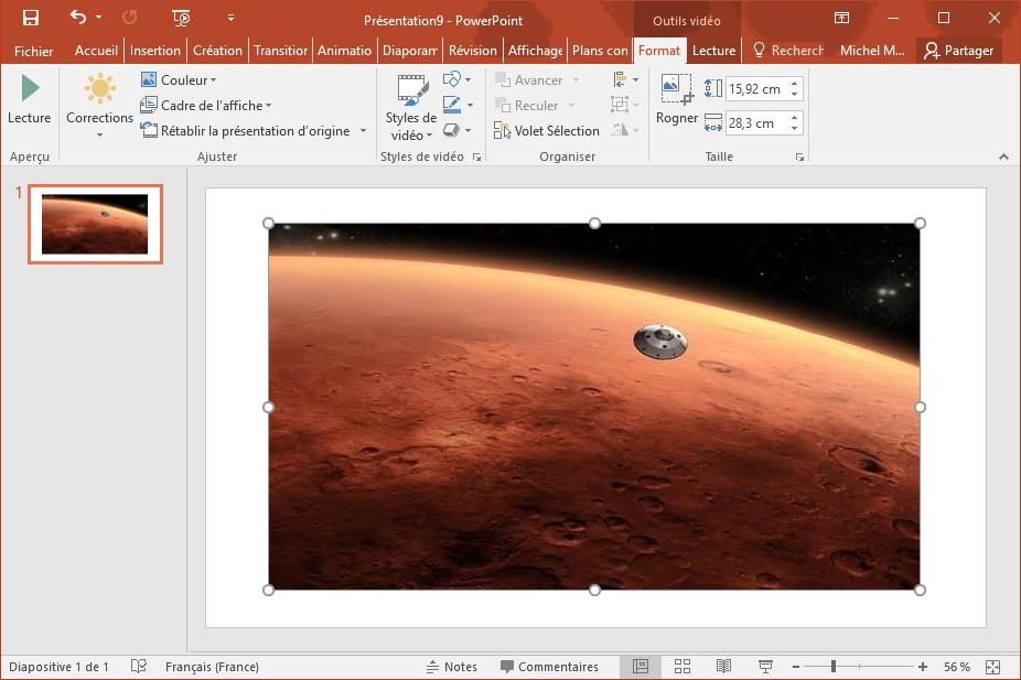 Powerpoint 2016 ajouter une vid o en ligne m diaforma - Couper un fichier audio en ligne ...