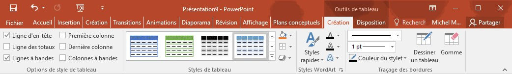 Powerpoint 2016 Insérer Un Tableau Dans Une Diapositive