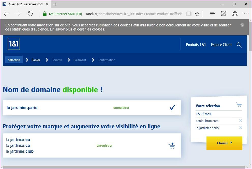 Windows 10 cr er une adresse mail avec son propre - Bureau d enregistrement nom de domaine ...