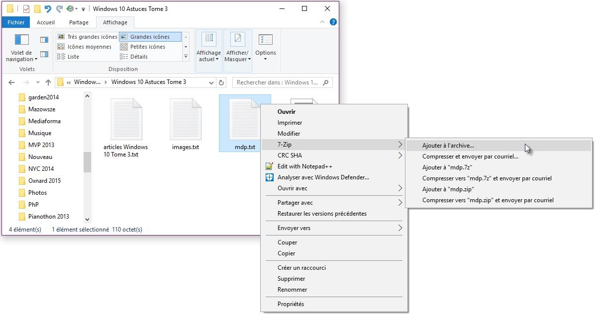 windows 10 cr er un fichier zip avec mot de passe m diaforma. Black Bedroom Furniture Sets. Home Design Ideas