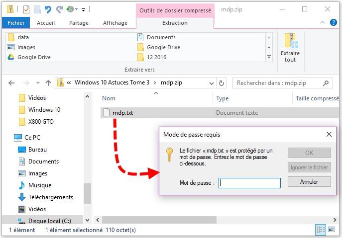 Windows 10 Creer Un Fichier Zip Avec Mot De Passe Mediaforma