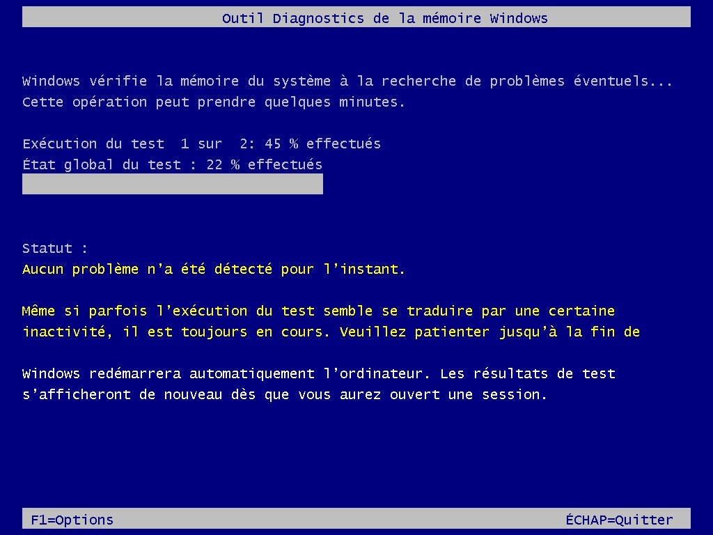 Probleme de memoire windows