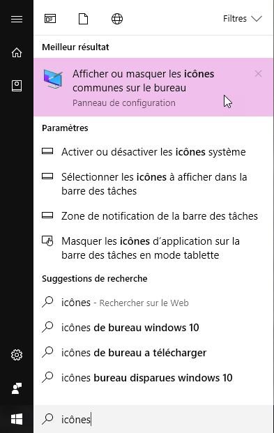Windows 10 - Mes icônes ont disparu - Médiaforma on