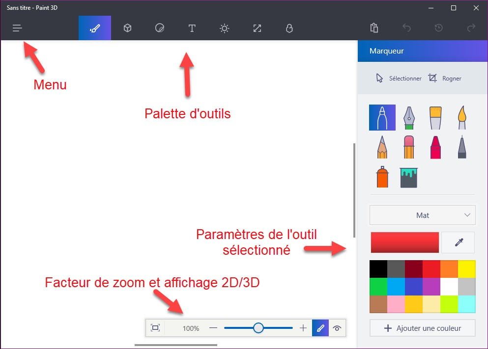 how to write in paint windows 10