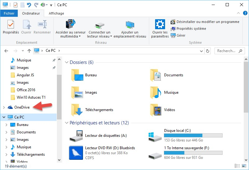 Windows 10 supprimez le dossier onedrive de l for Fenetre explorateur windows 7
