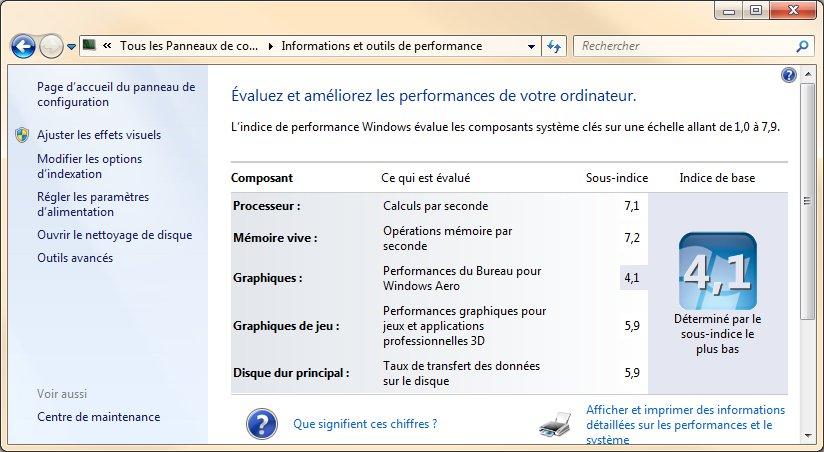 Ordinateur archives m diaforma - Performance du bureau pour windows aero ...