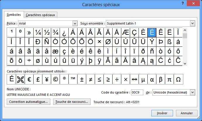 word 2013 - symboles et caract u00e8res sp u00e9ciaux