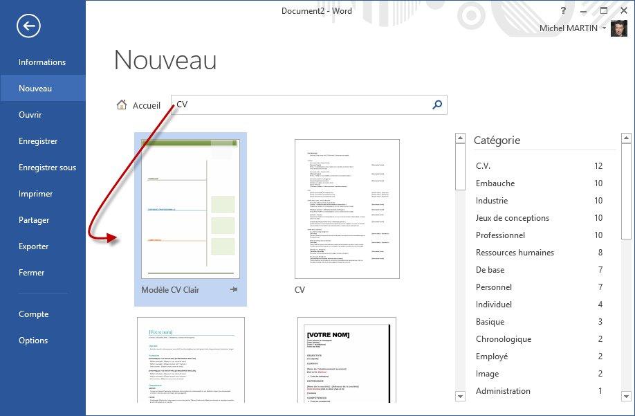 word 2013 - cr u00e9ation d u0026 39 un nouveau document