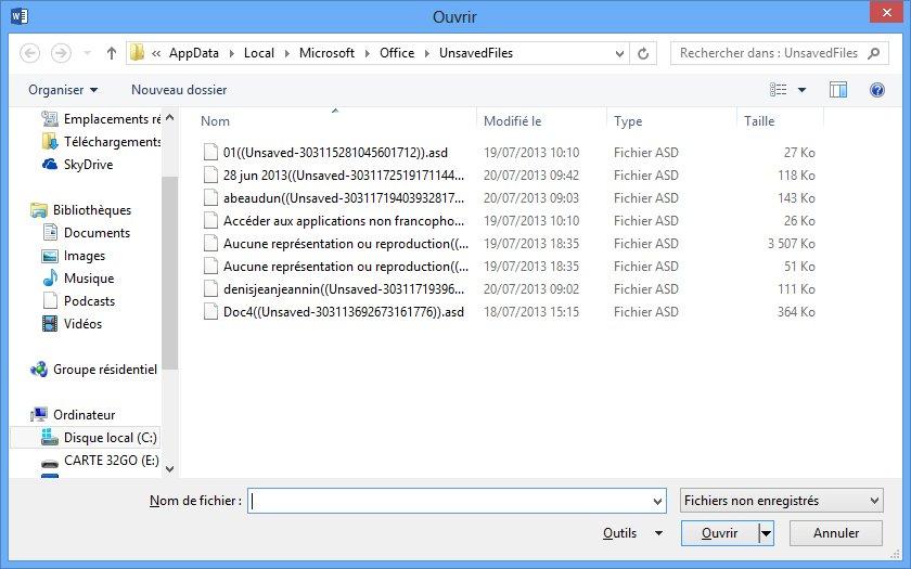 Word 2013 ouverture d 39 un document existant m diaforma for Fenetre word 2013