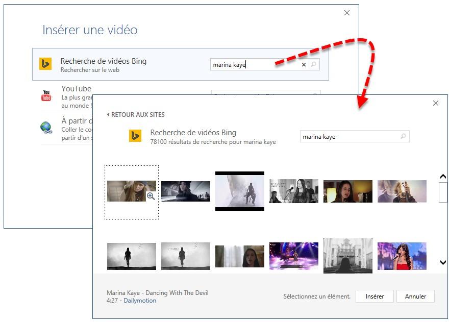 word 2016 - ins u00e9rer des vid u00e9os en ligne