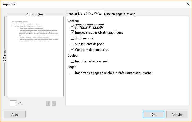 Libreoffice writer impression d 39 un document m diaforma - Arriere plan open office writer ...