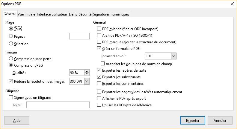 Calendrier Libre Office.Libreoffice Writer Sauvegarder Le Document Au Format Pdf
